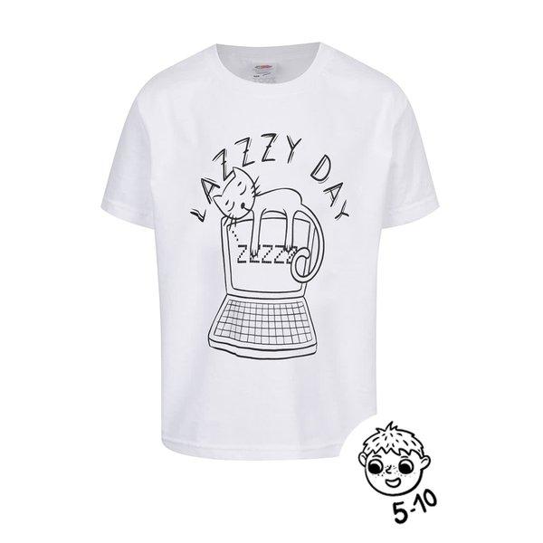 Tricou alb de băieți ZOOT Kids Lazy day de la ZOOT Kids in categoria Tricouri, camasi