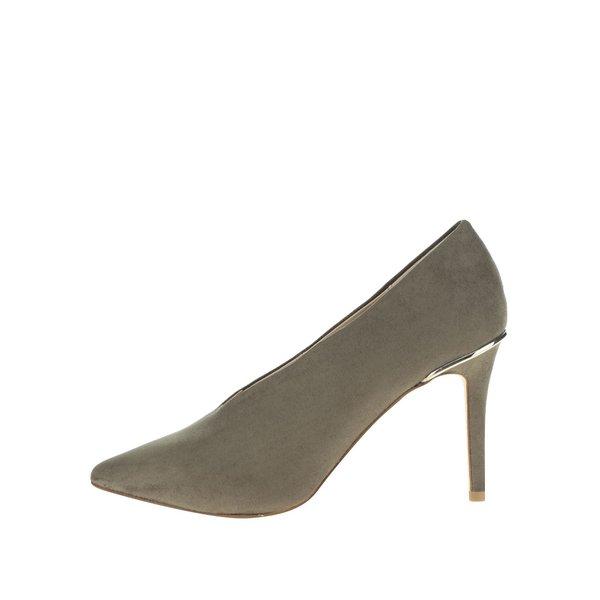Pantofi retro verzi cu toc cui si detaliu metalic Miss Selfridge