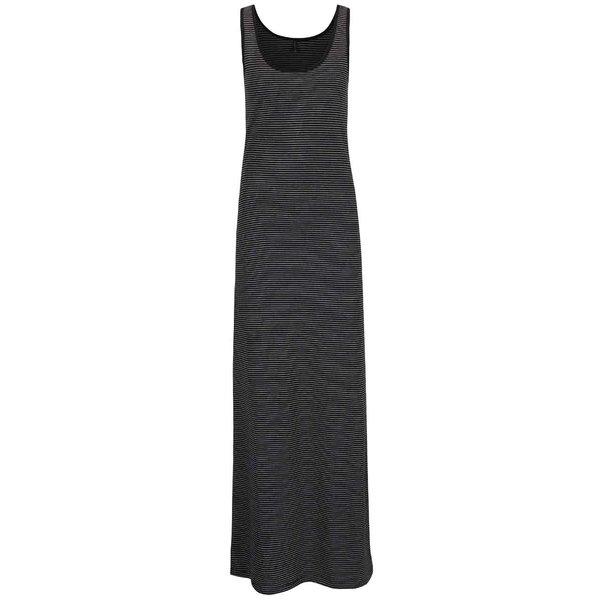 Rochie neagră lungă Only Abbie cu dungi de la ONLY in categoria rochii de vară și de plajă