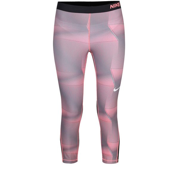 Colanți capri gri&roz Nike Pro Cool