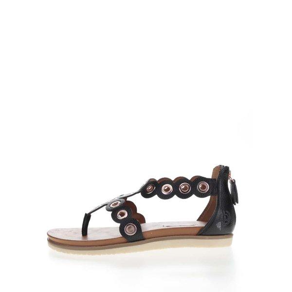 Sandale negre bugatti Jodie cu detalii metalice argintii de la bugatti in categoria sandale