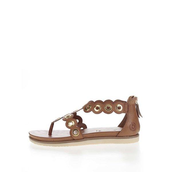 Sandale maro bugatti Jodie cu detalii metalice aurii de la bugatti in categoria sandale