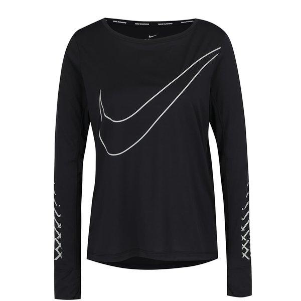 Bluză neagră Nike Breathe cu logo de la Nike in categoria bluze