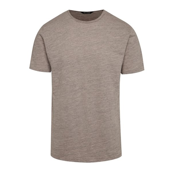 Tricou gri melanj ONLY & SONS Albert din bumbac de la ONLY & SONS in categoria tricouri