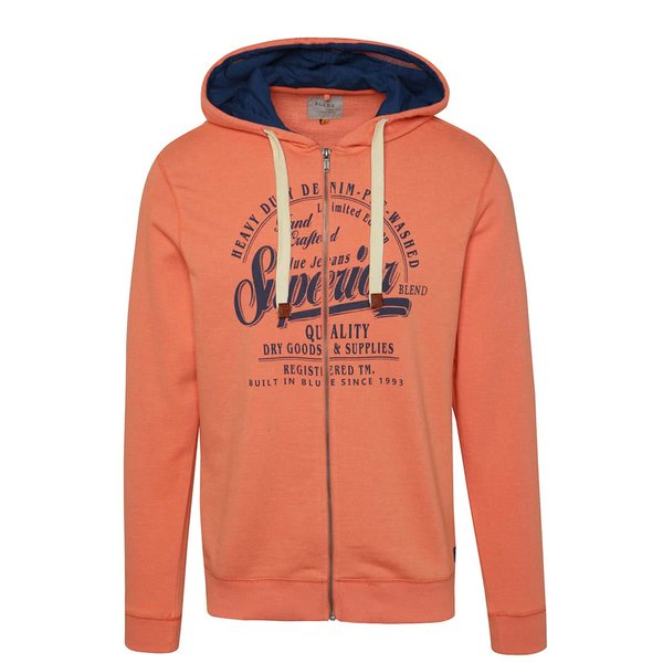 Hanorac portocaliu Blend cu fermoar de la Blend in categoria Pulovere și hanorace