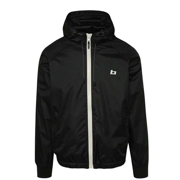 Jachetă subțire neagră Blend cu glugă