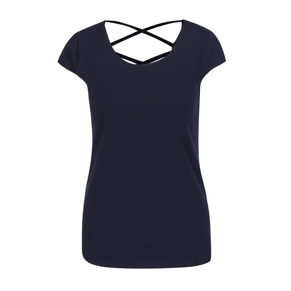 Tricou albastru închis Haily's Melanie cu șireturi