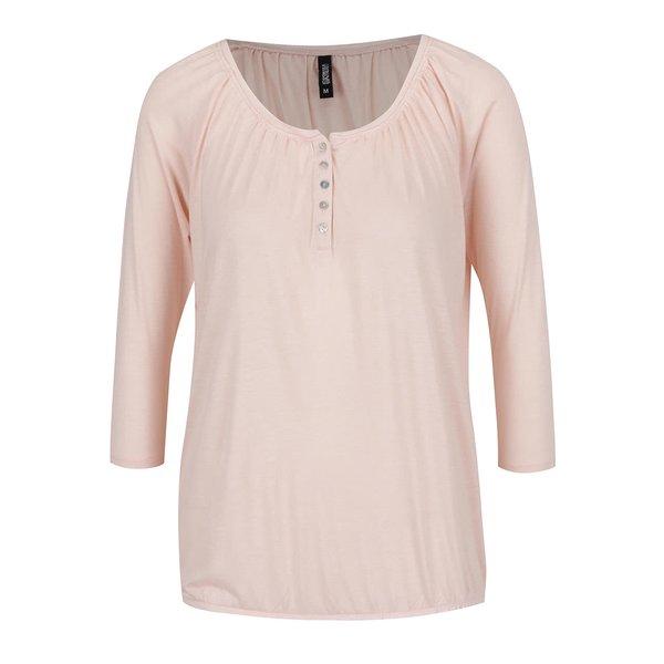 Bluză roz pal Haily's Hilda cu mâneci 3/4
