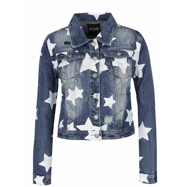 Jachetă albastră din denim Haily´s Alisa cu model și aspect prespălat de la Haily´s in categoria Geci, jachete și sacouri