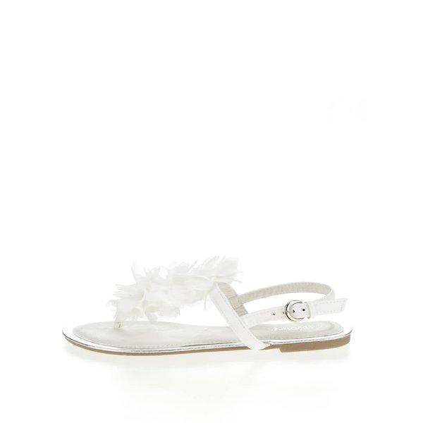 Sandale albe Haily's Rosa cu detaliu de la Haily´s in categoria sandale