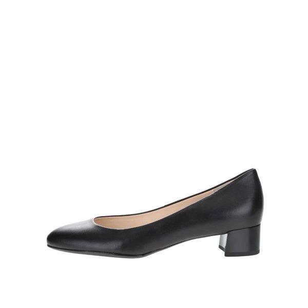Pantofi negri din piele Högl cu toc mic de la Högl in categoria pantofi cu toc