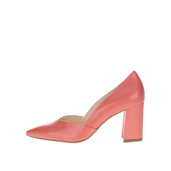 Pantofi cu toc roșu corai Högl din piele de la Högl in categoria pantofi cu toc