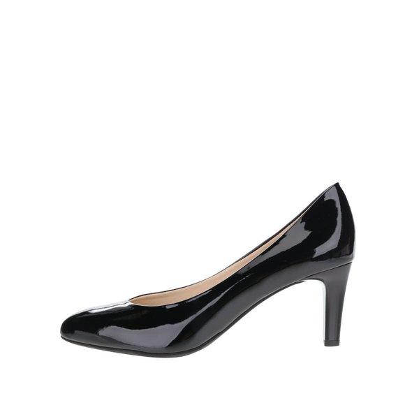 Pantofi negri din piele lăcuită Högl cu toc cui