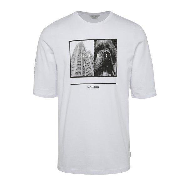 Tricou alb Jack & Jones Era din bumbac cu print de la Jack & Jones in categoria bluze