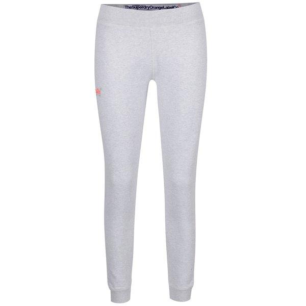 Pantaloni sport gri deschis melanj Superdry cu logo de la Superdry in categoria Blugi, pantaloni, colanți