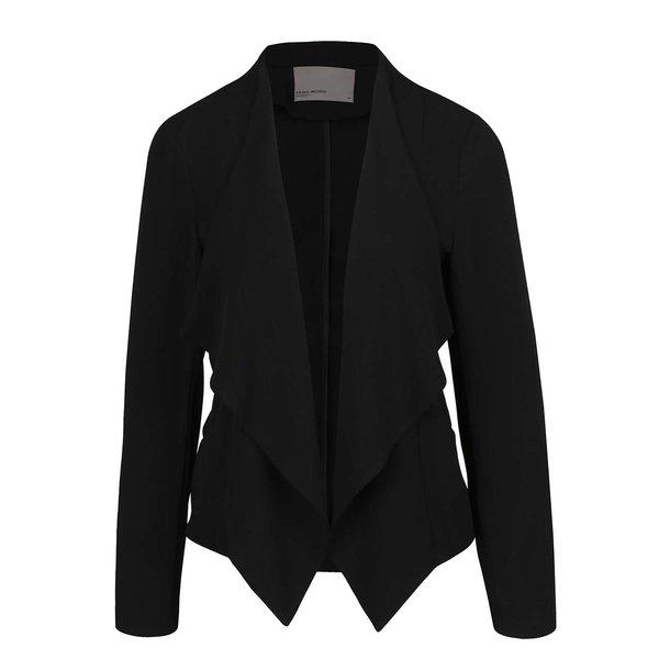 Sacou negru asimetric VERO MODA Ea cu revere oversized de la VERO MODA in categoria Geci, jachete și sacouri