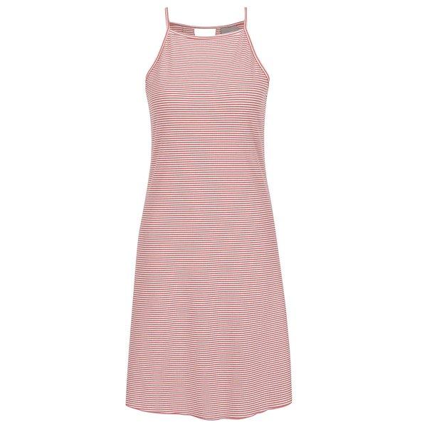 Rochie roz&crem fără mâneci VERO MODA Addison din jerseu subțire de la VERO MODA in categoria rochii casual