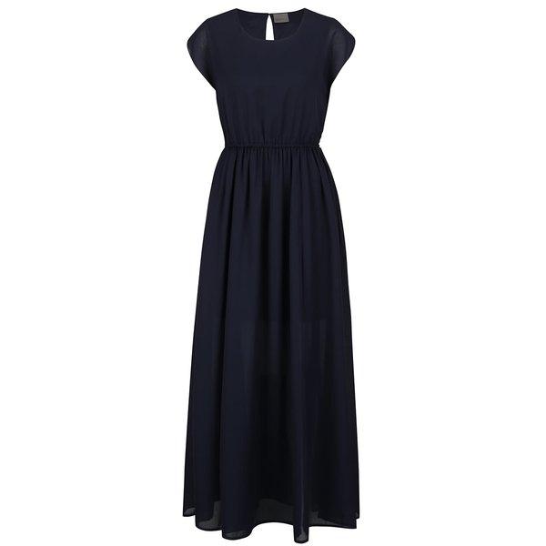 Rochie maxi bleumarin VERO MODA Dotta din material semitransparent și vaporos de la VERO MODA in categoria rochii de seară