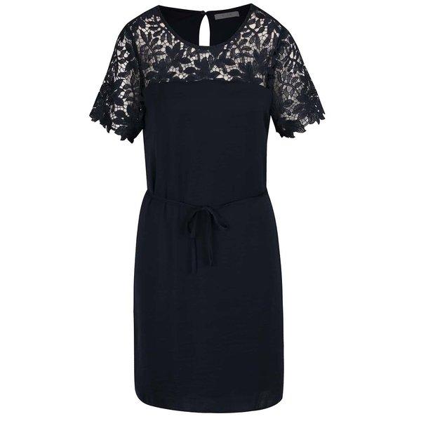 Rochie bleumarin VILA Melli cu detaliu din dantelă de la VILA in categoria rochii de seară