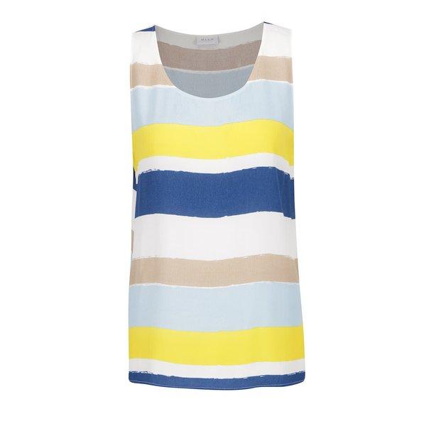 Top albastru & galben VILA Nilas cu model în dungi de la VILA in categoria maiouri