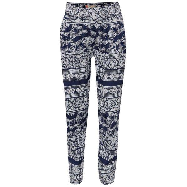 Pantaloni alb cu albastru Roxy Wanna go holiday de fete de la Roxy in categoria Pantaloni, pantaloni scurți, colanți
