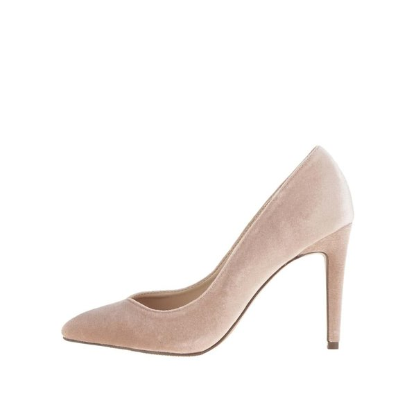 Pantofi stiletto roz prafuit cu aspect catifelat Dorothy Perkins