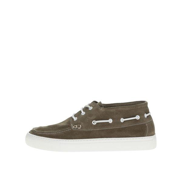 Pantofi verde olive Selected Homme August din piele întoarsă de la Selected Homme in categoria pantofi și mocasini
