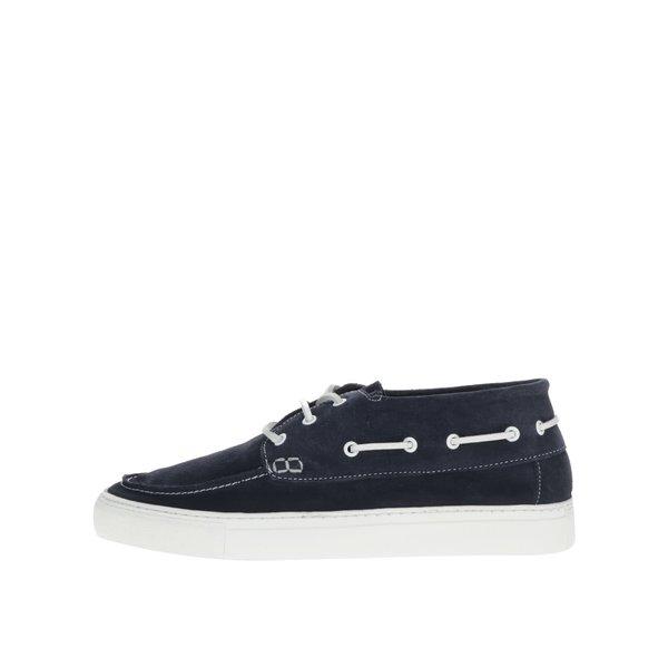Pantofi albastru închis Selected Homme August din piele întoarsă de la Selected Homme in categoria pantofi și mocasini