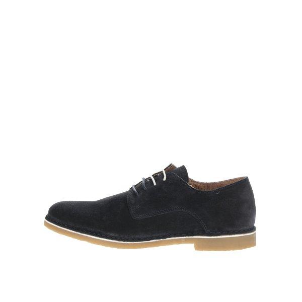 Pantofi albastru închis Selected Homme Royce din piele întoarsă de la Selected Homme in categoria pantofi și mocasini