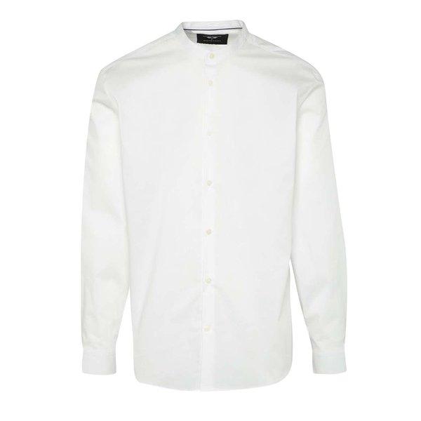 Cămașă albă Selected Homme AB One slim fit cu guler tunică de la Selected Homme in categoria Cămăși