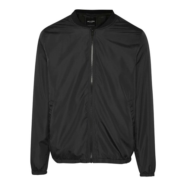 Jachetă bomber neagră ONLY & SONS Norm de la ONLY & SONS in categoria Geci, paltoane, jachete