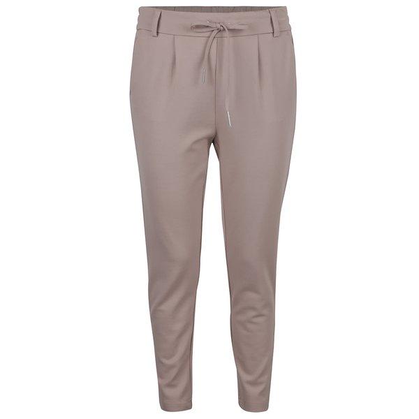 Pantaloni maro deschis ONLY cu șnur decorativ de la ONLY in categoria Blugi, pantaloni, colanți