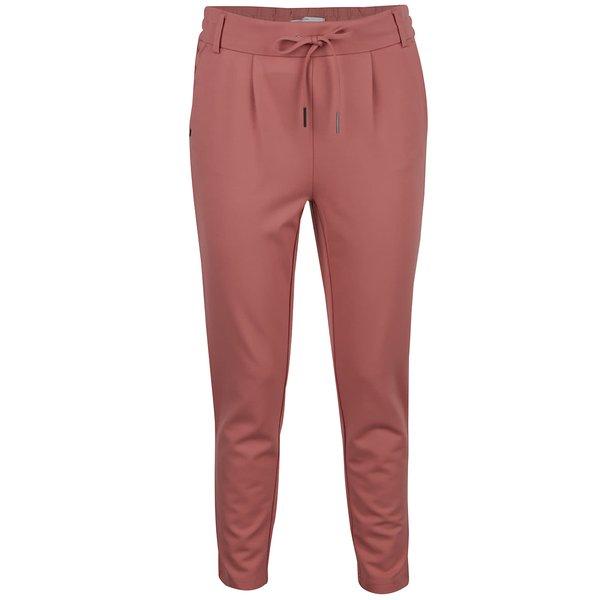 Pantaloni rosu caramiziu ONLY cu snur decorativ