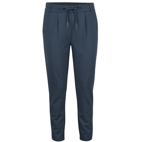 Pantaloni albaștri petrol ONLY cu șnur decorativ de la ONLY in categoria Blugi, pantaloni, colanți