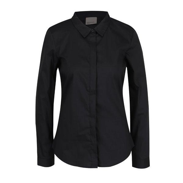 Cămașă neagră VERO MODA Lady cu mâneci lungi de la VERO MODA in categoria Topuri, tricouri, body-uri