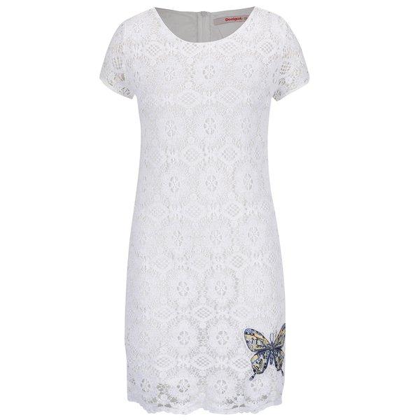 Rochie albă Desigual Cadaqués din dantelă de la Desigual in categoria rochii de seară