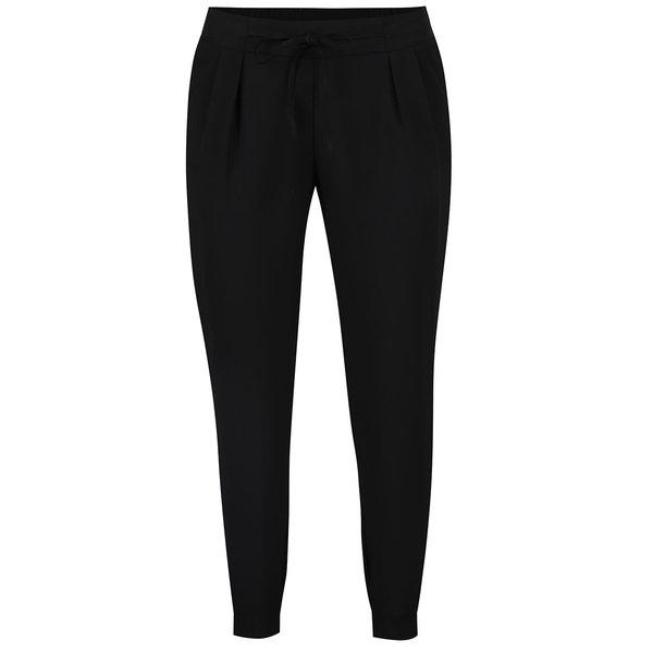Pantaloni negri TALLY WEiJL cu pliuri discrete de la TALLY WEiJL in categoria Blugi, pantaloni, colanți