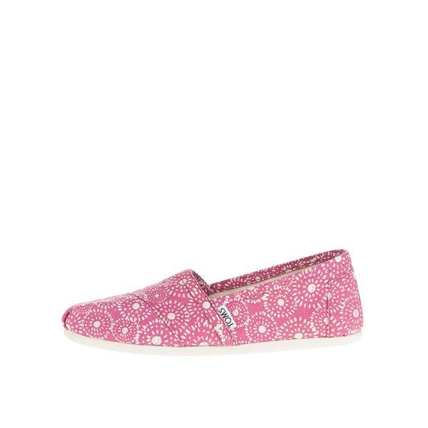 Espadrile roz cu print - TOMS