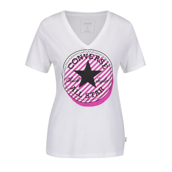 Tricou alb Converse Off Center de la Converse in categoria tricouri