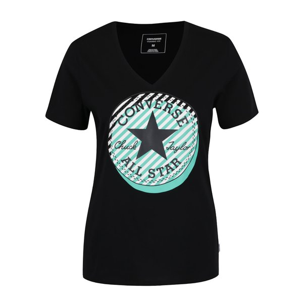 Tricou negru Converse Off Center