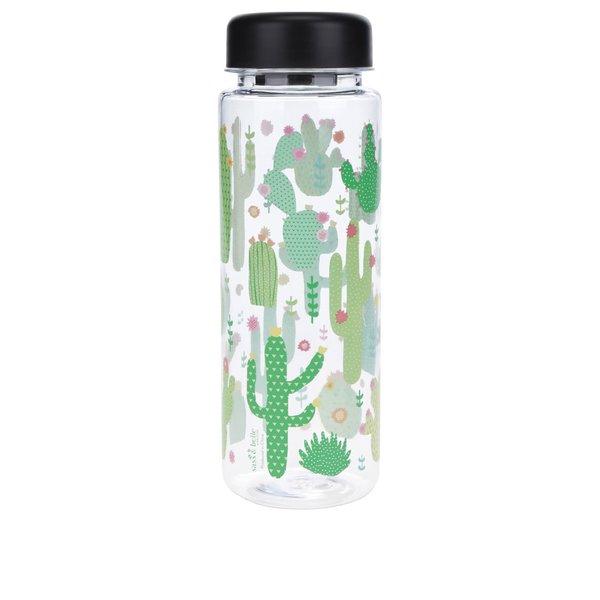 Sticlă transparentă Sass & Belle cu imprimeu cactuși 450 ml de la Sass & Belle in categoria Bucătăria