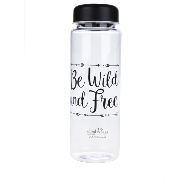 Sticlă transparentă Sass & Belle cu imprimeu text 450 ml de la Sass & Belle in categoria Bucătăria