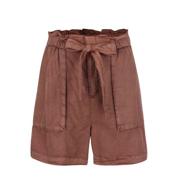 Pantaloni scurți caramizii VERO MODA Zoe cu cordon