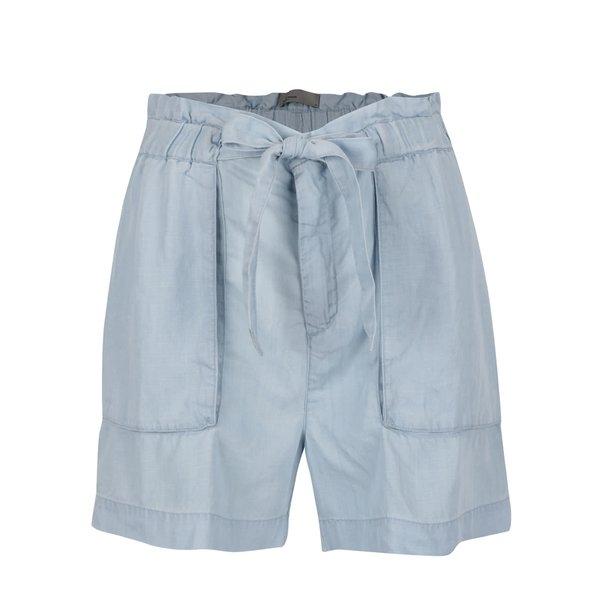 Pantaloni scurti bleu VERO MODA Zoe cu cordon