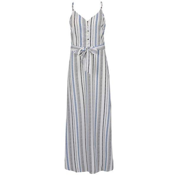 Rochie maxi crem & albastru Mela London cu model în dungi de la Mela London in categoria rochii casual