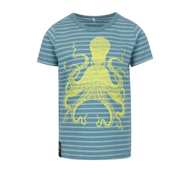 Tricou albastru & turcoaz name it Flem cu print și model în dungi