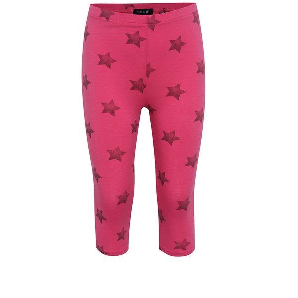 Colanți capri roz cu steluțe Blue Seven pentru fete