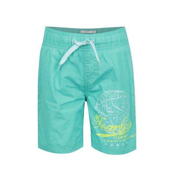 Bermude verzi de baie name it Zak cu print pentru băieți