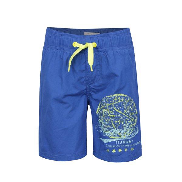 Bermude albastre de baie name it Zak din bumbac cu print pentru băieți