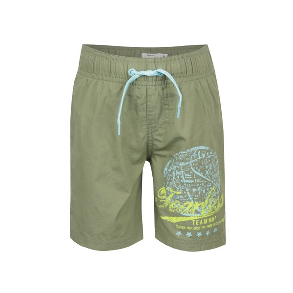 Bermude de baie kaki name it Zak din bumbac cu print pentru băieți